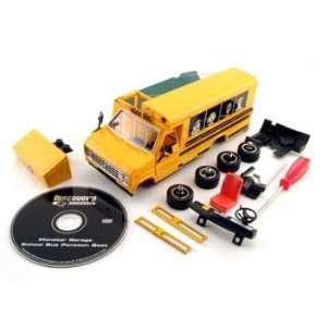 Monster Garage Model Kit Skool Bus Pontoon Boat Toys & Games