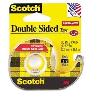 New 665 Double Sided Office Tape w/Hand Dispenser Case