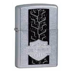 Zippo Harley Davidson Tracks Lighter (Silver, 5 1/2 x 3 1/2 cm