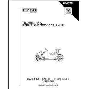 Service Manual for Gas TXT Golf Car Freedom Fleet Patio, Lawn