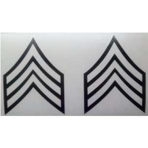 Military ARMY SERGEANT STRIPES Patch Window Glass Vinyl Decal Sticker