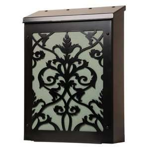 damask vertical wall mount mailbox in black and home improvement vertical wall mount mailbox6 wall