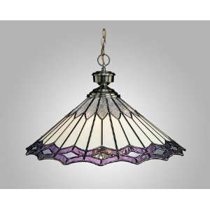 Tiffany 5 Light Pendant Light With Rose Water Glass Home & Kitchen