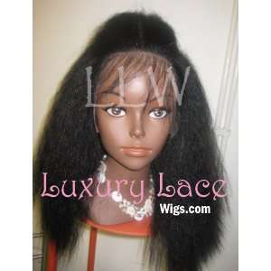 16 Inch Luxury Lace Brand 100% Indian Remy Full Lace Wig Natural Kinky