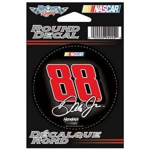 #88 Dale Earnhardt Jr 3 Round Decal Wincraft