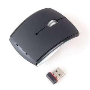 Neewer Black 2.4G Foldable Wireless USB Optical Mouse + Mini Receiver