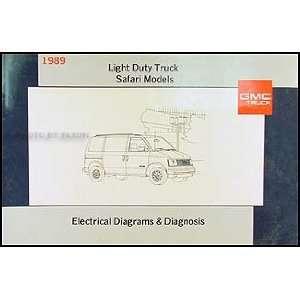 1989 GMC Safari Van Wiring Diagram Manual Original GMC Books