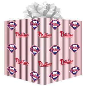 Philadelphia Phillies White Gift Wrap Paper