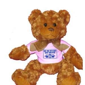 ON THE 8TH DAY GOD CREATED CHRISTIAN ROCK Plush Teddy Bear