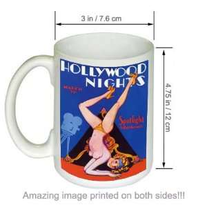 Hollywood Nights Vintage Pinup Girl Retro Art COFFEE MUG