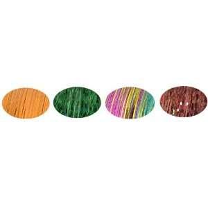 Piz Zaz Hair Glimmer Tinsel 4 Color Set Forest Green, Sweet Orange
