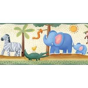 Jungle Adventure Animals   Kids Room Decor   Wallpaper