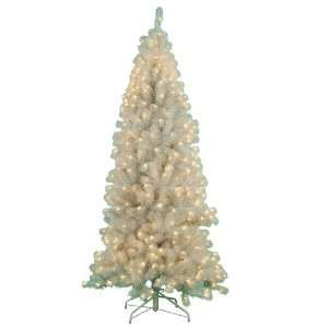 7 White Iridescent Paradise Artificial Christmas Tree