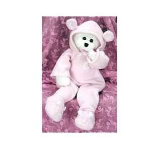 Singing Baby Teddy Bear Pink