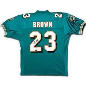 Ronnie Brown Signed Jersey   Aqua UDA   Autographed NFL