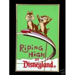 : Disney Retro Postcard Chip & Dale Riding High Pin: Everything Else