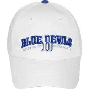 Duke Blue Devils Adjustable White Dinger Hat Sports