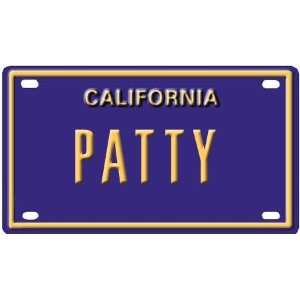 Patty Mini Personalized California License Plate