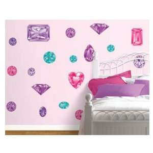 Girls Best Friend in Pink and Purple Peel and Stick Wall