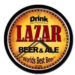 LAZAR beer and ale cerveza wall clock: Everything Else