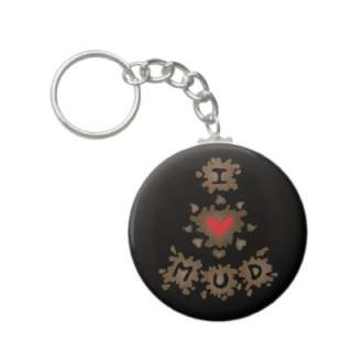 Heart Mud Key Chains from Zazzle