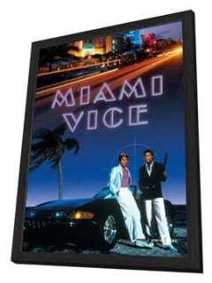 Miami Vice (TV)   27 x 40 TV Poster   Style F   in Deluxe Wood Frame