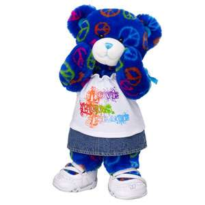 Beary Stylish Peace & Hugs Bear   Build A Bear Workshop US