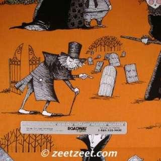 Alexander Henry~GHASTLIES~ORANGE HALLOWEEN Fabric /Yd.