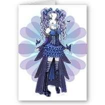 Haylee Purple Tattoo Butterfly Fairy Art Card by mykajelina