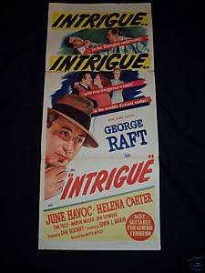 INTRIGUE original GEORGE RAFT  GANGSTER poster