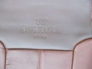 2011 Ford F250 Crew King Ranch leather seat covers