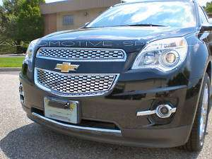 2010 2011 CHEVY EQUINOX 2PC CHROME ABS GRILLE GRILL OVERLAY