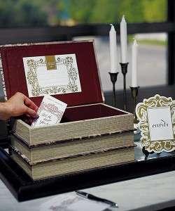 Stacked Antique Book Box Wedding Wishing Well Wedding Card Box Holder