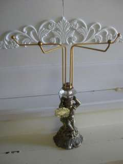 Antique Hamilton Sterling 24 KT Gold Cherub Towel Rack