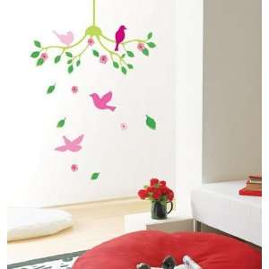 Flower Chandelier Deco Mural Wall Paper Sticker SWST 17