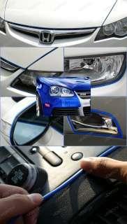 Blue Universal Car Interior Exterior Molding Trims