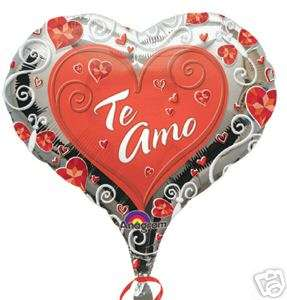 TE AMO 18 BALLOON VALENTINES DAY SPANISH LOVE WEDDING