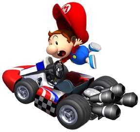 Sticker Decal   Super Mario Kart Baby Mario Wii CA59