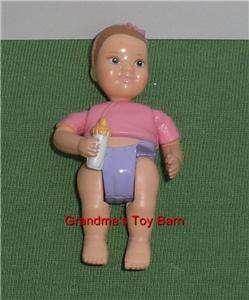 Price Loving Family Dollhouse BABY GIRL INFANT Pink w/ Bottle