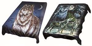 Brand New Super Soft Mink   Wolf / Wolves Blanket Must See