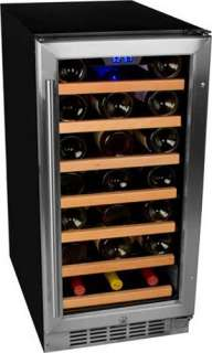 EdgeStar CWR300SZ 30 Bottle Stainless Steel Built In Wine Cooler