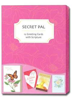 Secret Pal Greeting Cards with Scripture Box of 12