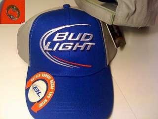 Official BUD Light Bottle opener Beer Cap Hat Ballcap Embroidered Logo