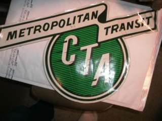1950 60s Chicago Transit Authority Bus Train Decal