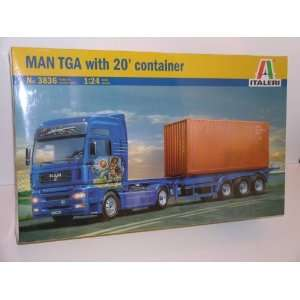 Big Rig Truck Man TGA with 20 foot Container   Plastic Model Kit