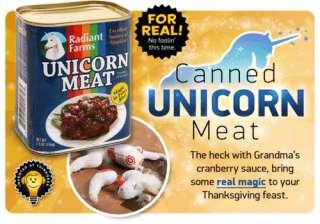 Canned Unicorn Meat (butchered unicorn plush inside)   New!