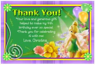 TINKERBELL BIRTHDAY THANK YOU CARDS ~ DIGITAL