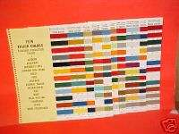 1974 CHEVROLET DODGE GMC FORD TRUCK COLOR PAINT CHIPS
