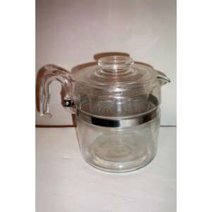 VINTAGE Pyrex Flameware 9 cup Coffee Pot Percolator Complete: