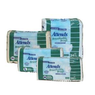 Attends Breathable Briefs Extra Absorbent   4pk.Opens in a new window